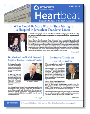 publications - Heartbeat Fall 2013