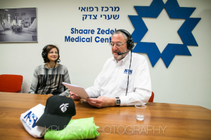 Professor Gheona Altarescu, director of the PGD unit at Shaare Zedek, responsible now for an estimated 500 health births of children of parents who are carriers of genetic diseases, with Nachum Segal at Shaare Zedek Medical Center on Feb. 10, 2016.