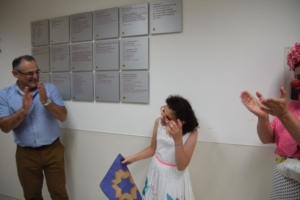 Jonathan Paull of the UK celebrated his daughter's bat mitzvah during his family's dedication of a Mother's Milk Room at the Shaare Zedek NICU in memory of their late mother, and in honor of the loving care she received at Shaare Zedek in her final days.