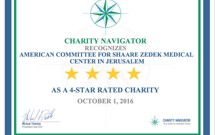 For Second Time, Four Stars From Charity Navigator for ACSZ