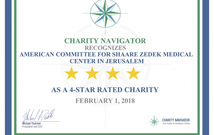 Third Year for ACSZ as a Four-Star Charity on Charity Navigator
