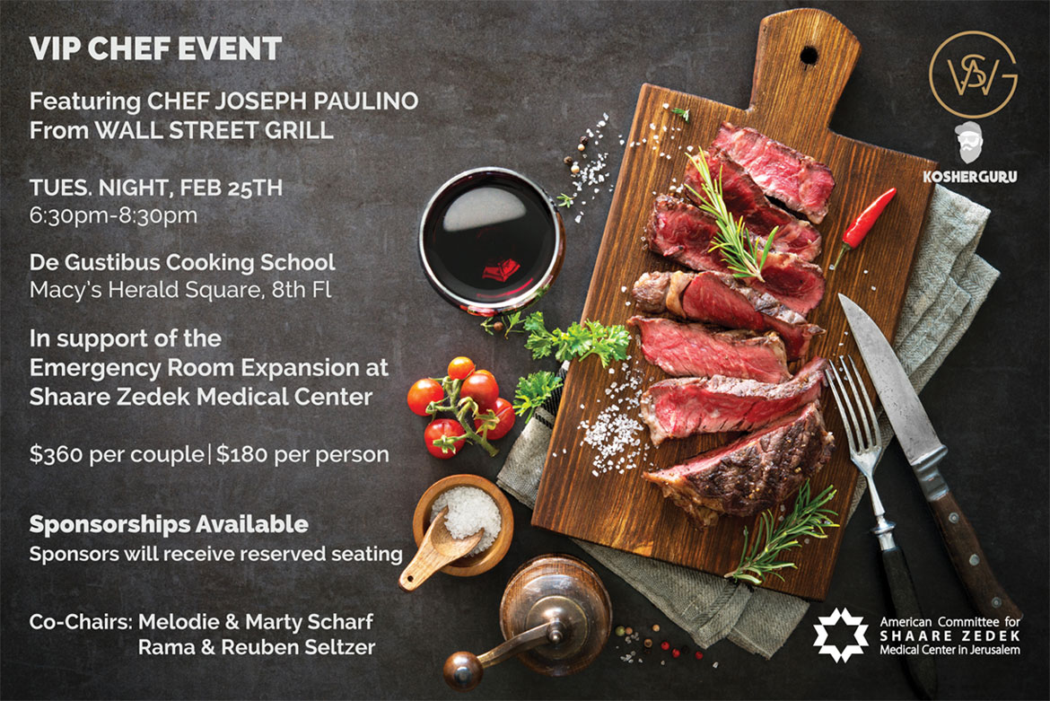 VIP Chef Event Featuring Chef Joseph Paulino from Wall Street Grill