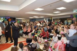 Children's Hospital to help celebrate Purim 2016.
