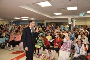 Children's Hospital to help celebrate Purim 2016.